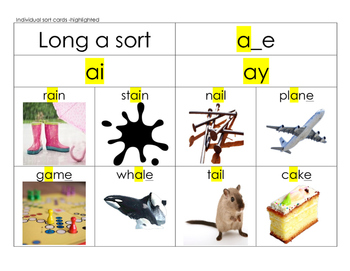 Long a ay, ai, a_e sort