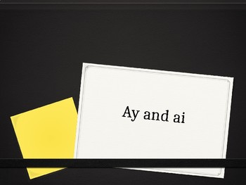 Long a (ay and ai) Interactive PowerPoint Lesson
