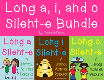 Long a, i, and o Silent-e Literacy Activities Bundle