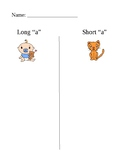Long a/short a word sort