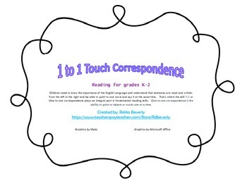 Long a silent e 1:1 Correspondence