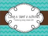 Long a silent e activities