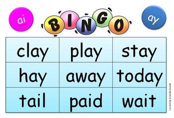 Long a sound Bingo