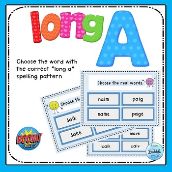 Long a spelling practice with Boom Deck IEP reading and dyslexia support