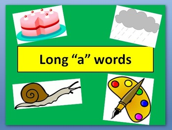 """Long """"a"""" words PowerPoint"""