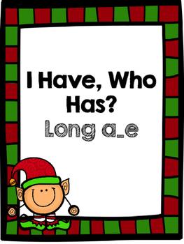 Long a_e: I Have, Who Has - Winter Theme