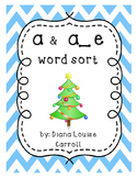 Long ae and short a word sort christmas phonics