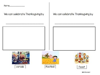 Long ago vs. Today Thanksgiving Writing activities