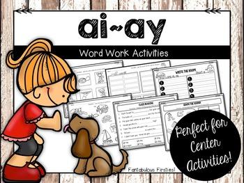 Long ai, ay Word Work Activities