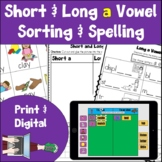Long and Short A Vowel Activities