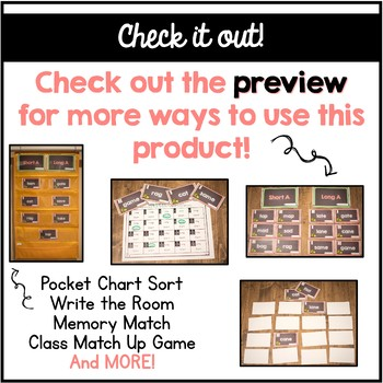 Long and Short A Vowel Sorting Center