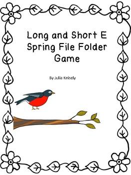 Long and Short E File Folder Game