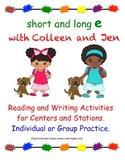 """Long and Short E Reading and Writing Activities"", Individ"