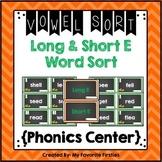 Long and Short E Vowel Sorting Center