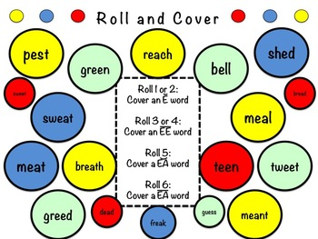 Long and Short E Word Study Sort and Activities (E, EE, EA and Short EA)
