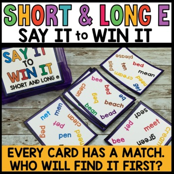 LITERACY CENTERS Long and Short E Words [SPOT THAT WORD]
