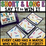Short and Long Vowel E Word Practice Game | Spot That Word
