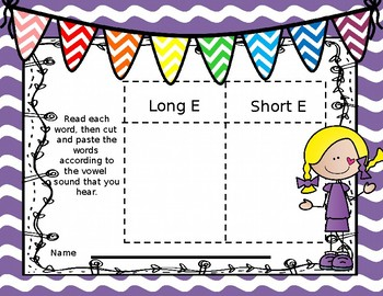Long and Short E Activities for Center Time