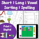 Long and Short I Vowel Activities