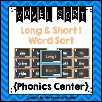 Long and Short I Vowel Sorting Center