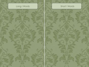 Long and Short I Vowel Word Sort Center Activity