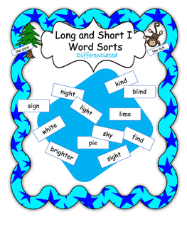 Long and Short I Word Sorts - Differentiated