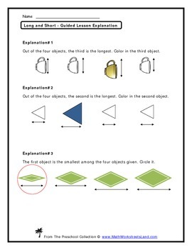 Long and Short (Measuring Distance) Teacher Worksheet Pack