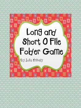 Long and Short O File Folder Game