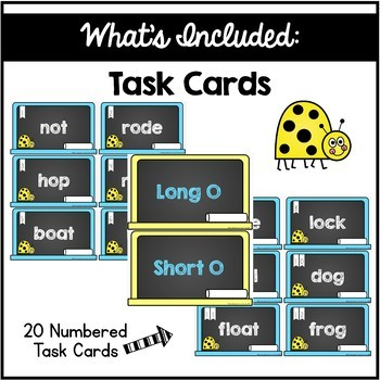 Long and Short O Vowel Sorting Center
