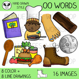 Long and Short OO Clip Art