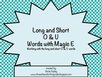 Long and Short O&U with Magic E Word Study Sort and Activities