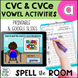 Long and Short a Vowel Activities | Print and Digital for