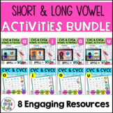 Long and Short Vowel Activities Bundle | CVC and CVCe