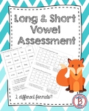 Long and Short Vowel Assessment