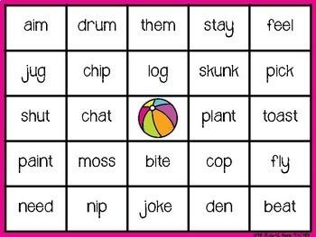 Long and Short Vowel BINGO