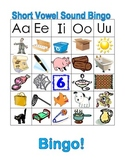 Long and Short Vowel Bingo Picture and Word Game Common Core