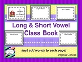 Long and Short Vowel Book for Class to Make