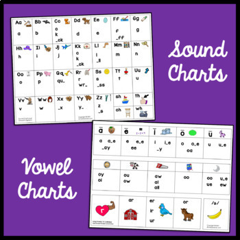 Alphabet, Vowel and Word Work Charts ~ Free!