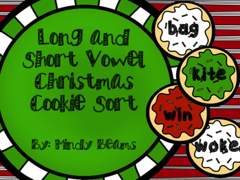 Long and Short Vowel Christmas Cookie Sort