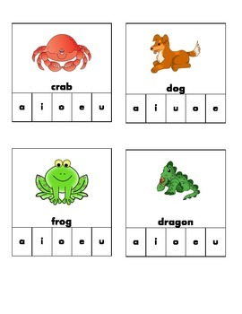 Long and Short Vowel Clip Match