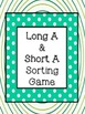 Long and Short Vowel File Folder Sorting Game with QR Code