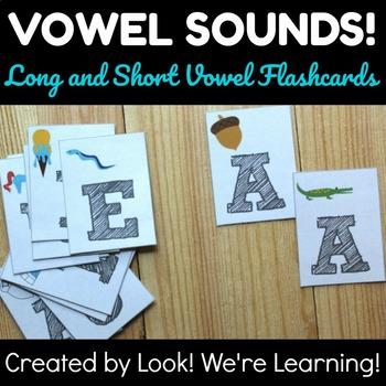 Long and Short Vowel Flashcards - Vowel Sounds!