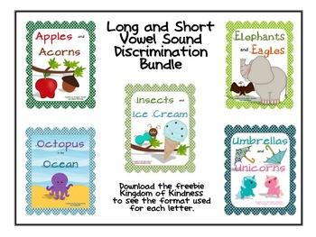 Long and Short Vowel Letter-Sound Discrimination Bundle