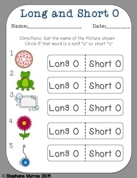 Long and Short Vowel Match Up