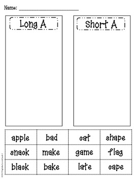 Long and Short Vowel Pack