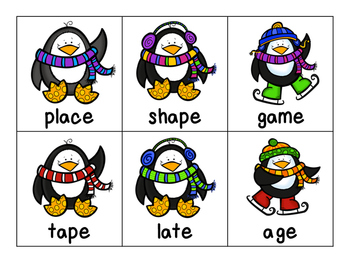 Long and Short Vowel Penguin Activity Pack
