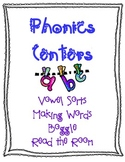 Long and Short Vowel Phonics Center Packet CCSS