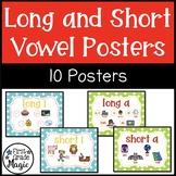 Long and Short Vowel Phonics Posters - Polka Dot