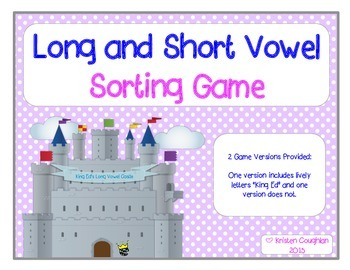 Long and Short Vowel Picture Sorting Game: King Ed's Castl