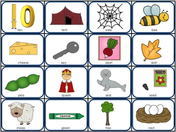 Long and Short Vowel Picture Sorts